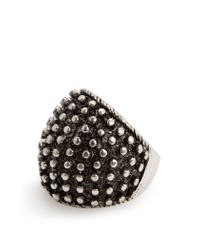 Mango - Metallic Embossed Ring - Lyst