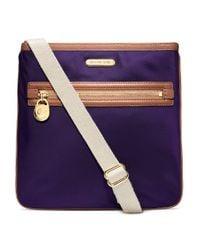 MICHAEL Michael Kors | Purple Kempton Large Crossbody Bag | Lyst