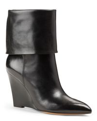Michael Kors - Black Paycen Foldover Wedge Boot - Lyst