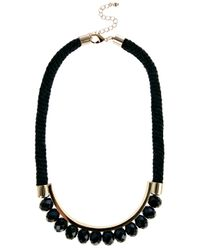 Coast - Black Cord Bead Necklace - Lyst