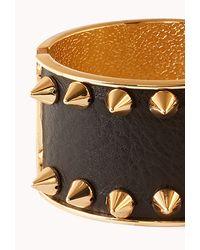 Forever 21 - Black Spiked Hinge Cuff - Lyst