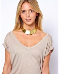 ASOS | Metallic Made Hammered Torq Necklace | Lyst