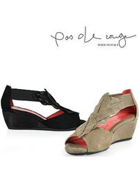 Pas De Rouge | Gray E931 Nori Peep Toe Wedge Sandal in Taupe Suede | Lyst