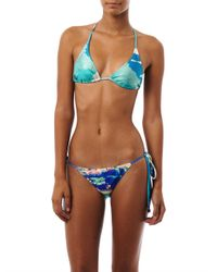 We Are Handsome | Blue The Hideaway Print Bikini | Lyst