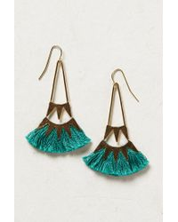 Anthropologie | Green Tufted Ceri Earrings | Lyst