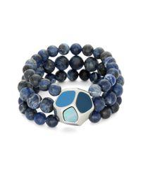 Brooks Brothers - Blue Sodalite Stretch Bracelet - Lyst