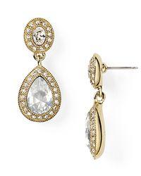Carolee | Metallic Champagne Toast Pavé Stone Drop Earrings | Lyst
