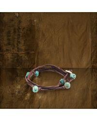 Denim & Supply Ralph Lauren - Blue Turquoise Beaded Bracelet - Lyst