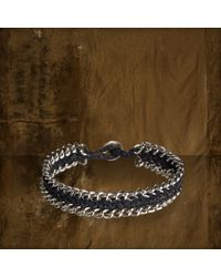 Denim & Supply Ralph Lauren | Gray Macram Silvertoned Bracelet | Lyst