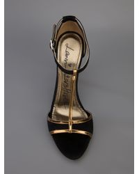 Lyst Lanvin Tstrap Sandal In Black