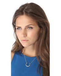 Alexis Bittar - Metallic Crystal Horseshoe Necklace - Lyst