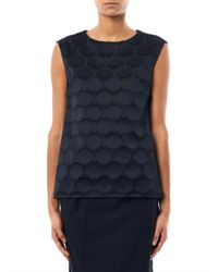 Antonio Berardi - Black Honeycomb Textured Silkblend Blouse - Lyst