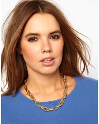 ASOS - Metallic Twist Chain Necklace - Lyst