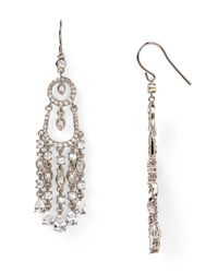 Carolee | Metallic Looking Glass Linear Chandelier Earrings | Lyst