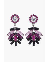 DANNIJO | Purple Fuchsia Crystal Valerie Earrings | Lyst