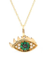 Delfina Delettrez - Blue Diamond, Sapphire & Yellow-gold Necklace - Lyst