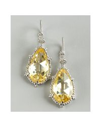 Judith Ripka - Yellow Canary Crystal and White Sapphire Calypso Teardrop Earrings - Lyst