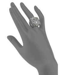 Konstantino - Metallic Classics Sterling Silver Floral Cushion Ring - Lyst