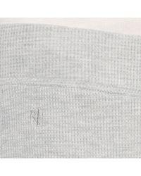 Lauren by Ralph Lauren - Gray Waffle knit Pajama Pant - Lyst
