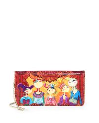 Love Moschino - Red Charming Printed Borsa Tracolla Convertible Shoulder Bag - Lyst