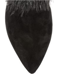 Nicholas Kirkwood | Black Rabbit lined Feather and Suede Boots | Lyst
