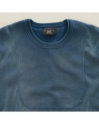 RRL - Blue Crew-neck Pullover for Men - Lyst
