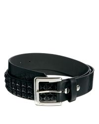 Vans - Black Studded Leather Belt for Men - Lyst