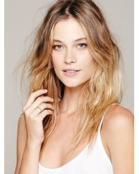 Free People - Metallic Chain Reaction Double Ring - Lyst
