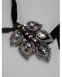 Lanvin - Metallic Leaf Pendant Necklace - Lyst