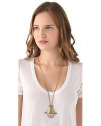 Low Luv by Erin Wasson - Metallic Sleepy Eye Necklace - Lyst