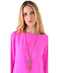 Lulu Frost - Metallic Althea Tassel Necklace - Lyst