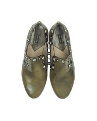 Marc Jacobs - Green Studded Calf Leather Loafer - Lyst