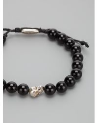 Paul Smith | Black Beaded Skull Bracelet for Men | Lyst
