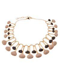 Lele Sadoughi - Black Meteor Shower Necklace - Lyst