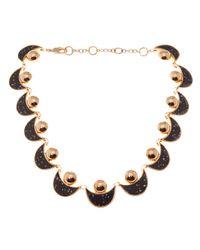 Lele Sadoughi | Black Moon and Sun Necklace | Lyst