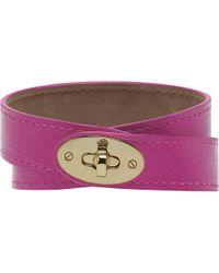 Mulberry - Purple Bayswater Doublewrap Bracelet - Lyst