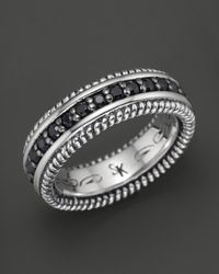 Scott Kay | Metallic Mens Sterling Silver Eternity Style Ring with Black Sapphires for Men | Lyst