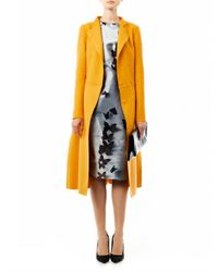 Bottega Veneta - Yellow Wool Blend Double Breasted Coat - Lyst