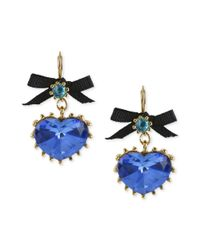 Betsey Johnson | Blue Lagoon Pendant Drop Earrings | Lyst