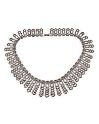 Fallon | Metallic Choker Necklace | Lyst