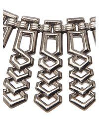 Fallon - Metallic Choker Necklace - Lyst