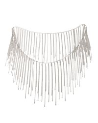 Fallon - Metallic Fringe Necklace - Lyst