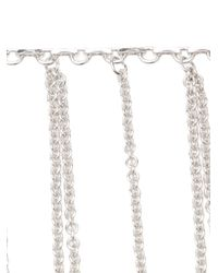 Fallon - Metallic Fringe Necklace - Lyst