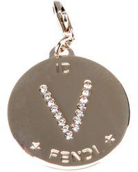 Fendi - Metallic V Identity Charm - Lyst