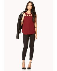 Forever 21 - Red Show Off Top - Lyst