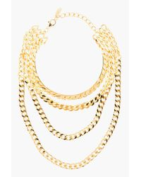 Giuseppe Zanotti - Metallic Gold Draped Multi_chain Choker Necklace - Lyst