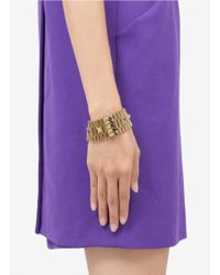 Iosselliani | Metallic Thick Chain Studded Bracelet | Lyst