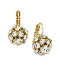 kate spade new york | Metallic 12k Gold-plated Crystal Ball Drop Earrings | Lyst
