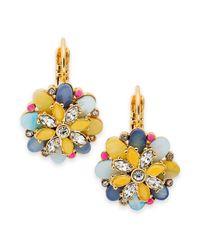 kate spade new york - Multicolor Kate Spade New York Earrings Goldtone Bungalow Bouquet Leverback Earrings - Lyst