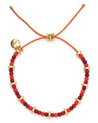 Marc By Marc Jacobs - Red Tiny Bead Bracelet - Lyst